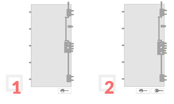 Podella Porte - SUPERBA 3D Key schema